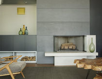 contemporary mantel for built-in fireplace EAST HAMPTON NY Get Real Surfaces