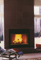 contemporary mantel for built-in fireplace HUDSON VALLEY NY  Get Real Surfaces