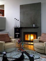 contemporary mantel for built-in fireplace RIDGEFIELD CT Get Real Surfaces