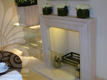 contemporary mantel for fireplace (stone) LIMEIRA STONE LimeStone Gallery