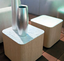 contemporary marble side table RIVER by Giuseppe Bavuso Acamdivani