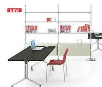 contemporary metal and glass bookcase FREELY OFFICE IBEBI DESIGN