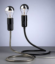 contemporary metal floor lamp (adjustable arm) LIGHTWORM LWS 02 by Walter Schnepel Tecnolumen