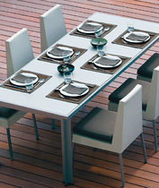 contemporary metal garden table SENSATIONS : JAZZ POINT