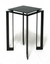 contemporary metal side table ADOUR by Julien Quiesse Triode Design