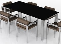 contemporary metal table and chairs set for gardens LIX TABLE AND CHAIR SET Swanky Design - Premium Contemporary Furniture