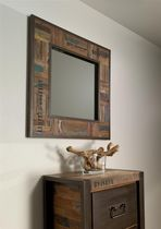 contemporary mirror in certified wood (FSC-certified) ISIS BSM