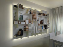 contemporary modular bookcase MOVIDA by Enrico Cesana Olivieri