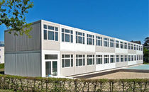 contemporary modular prefab building for construction site BASIC PLUS ALHO Systembau GmbH