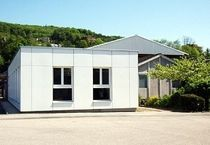 contemporary modular prefab building for offices VAN BAERLE Haring Engineering Ltd