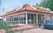 contemporary modular prefab building for retail mc donald's ALHO Systembau GmbH