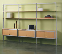 contemporary modular wooden and metal shelf MS Peter Pepper Products
