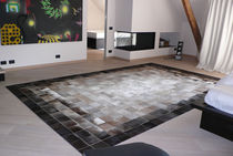 contemporary motif rug in leather BARCELONA Santelmo design