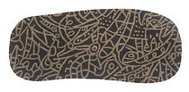 contemporary motif rug in New Zealand wool BROWN by Javier Mariscal nanimarquina