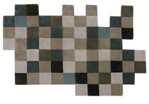 contemporary motif rug in New Zealand wool (handmade) DO-LO-REZ 1 GREYS by Ron Arad nanimarquina