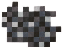 contemporary motif rug in New Zealand wool (handmade) DO-LO-REZ 2 GREYS by Don Arad nanimarquina