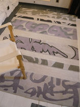 contemporary motif rug in wool and cotton GRAFFITI GARBARINO