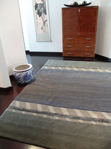 contemporary motif rug in wool and silk BRUYERE GARBARINO