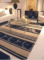 contemporary motif rug in wool and silk FAR GARBARINO