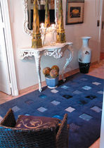 contemporary motif rug in wool and silk OPUS GARBARINO