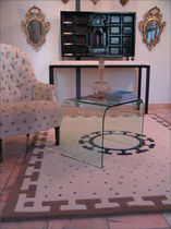 contemporary motif rug in wool and silk ORIENTE GARBARINO