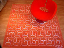 contemporary motif rug in wool (handmade) CLAUDINE by Patrick Norguet DESIGNER CARPETS