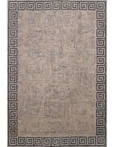 contemporary motif rug synthetic ANCIENT KEY NEUTRAL LIORA MANNE