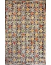 contemporary motif rug synthetic CHECKERED MARBLE MULTI LIORA MANNE