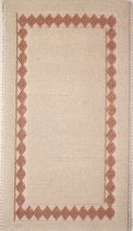 contemporary motif rug (handmade) CORNICE A ROMBI FIORITO Artigiantessile