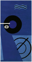 contemporary motif rug in New Zealand wool by Eileen Gray (handmade) BLUE MARINE CLASSICON