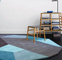 contemporary motif rug in wool (handmade) MENHIR by Damaris & Marc Ligne Roset France