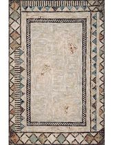 contemporary motif rug synthetic ANCIENT MOSAIC CLAY LIORA MANNE