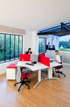 contemporary multiple workstation for open-space SERENIS Samas