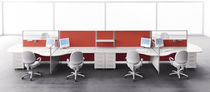 contemporary multiple workstation for open-space ZENITH Uffix Concept by Uffix