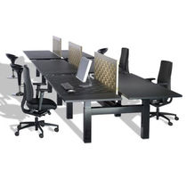 contemporary multiple workstation for open-space SEQ Kembo