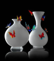 contemporary Murano glass vase FARFALLE by Stefano Poletti FORMIA-VIVARINI