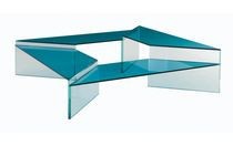 contemporary nesting glass table LES CONTEMPORAINS: TUXEDO by S. Lakic ROCHE BOBOIS