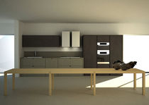 contemporary painted wood kitchen +M/D MVK ITALIA