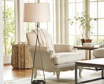 contemporary paper floor lamp DAUPHINE Williams Sonoma Home