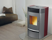 contemporary pellet wood stove POPERS Calimax