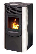 contemporary pellet wood stove SIRIA AIR 6.5 KW  Calux Srl