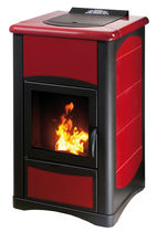 contemporary pellet wood stove ERGOFLAM AIR PLUS 11,5 KW Calux Srl