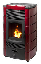 contemporary pellet wood stove DAFNE AIR PLUS 12,5 KW Calux Srl