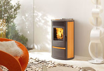 contemporary pellet wood stove (ceramic) LILIA PLUS EDILKAMIN