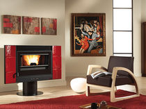 contemporary pellet wood stove (ceramic) ESMERALDA Nordica