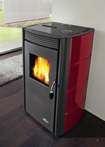 contemporary pellet wood stove (ceramic) LEXUS cadel