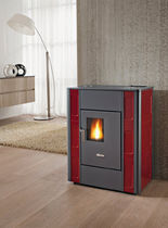 contemporary pellet wood stove (ceramic) MOON cadel