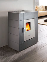 contemporary pellet wood stove (steel) MIKI cadel