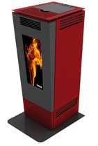 contemporary pellet wood stove (steel) FORMA 6 KW  Calux Srl