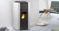 contemporary pellet wood stove TWIST 6 Calimax